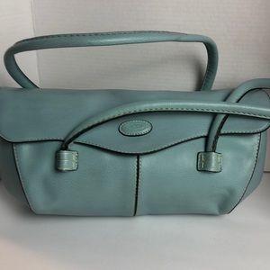 Tods Aqua Leather shoulder Bag